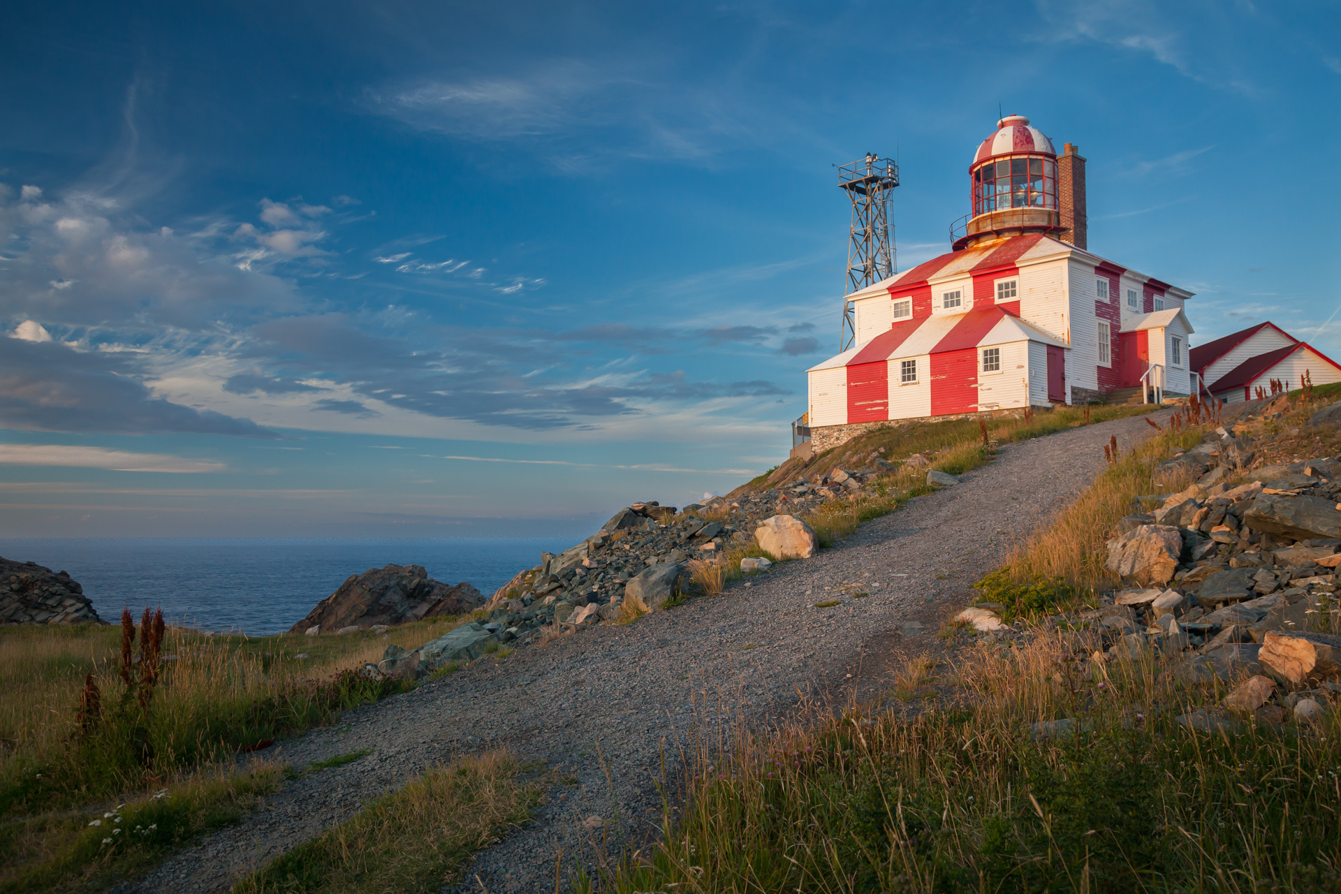 Landscapes - Newfoundland - Lighthouse Sunset