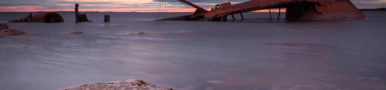 Landscapes - Newfoundland - Shipwreck Sunset