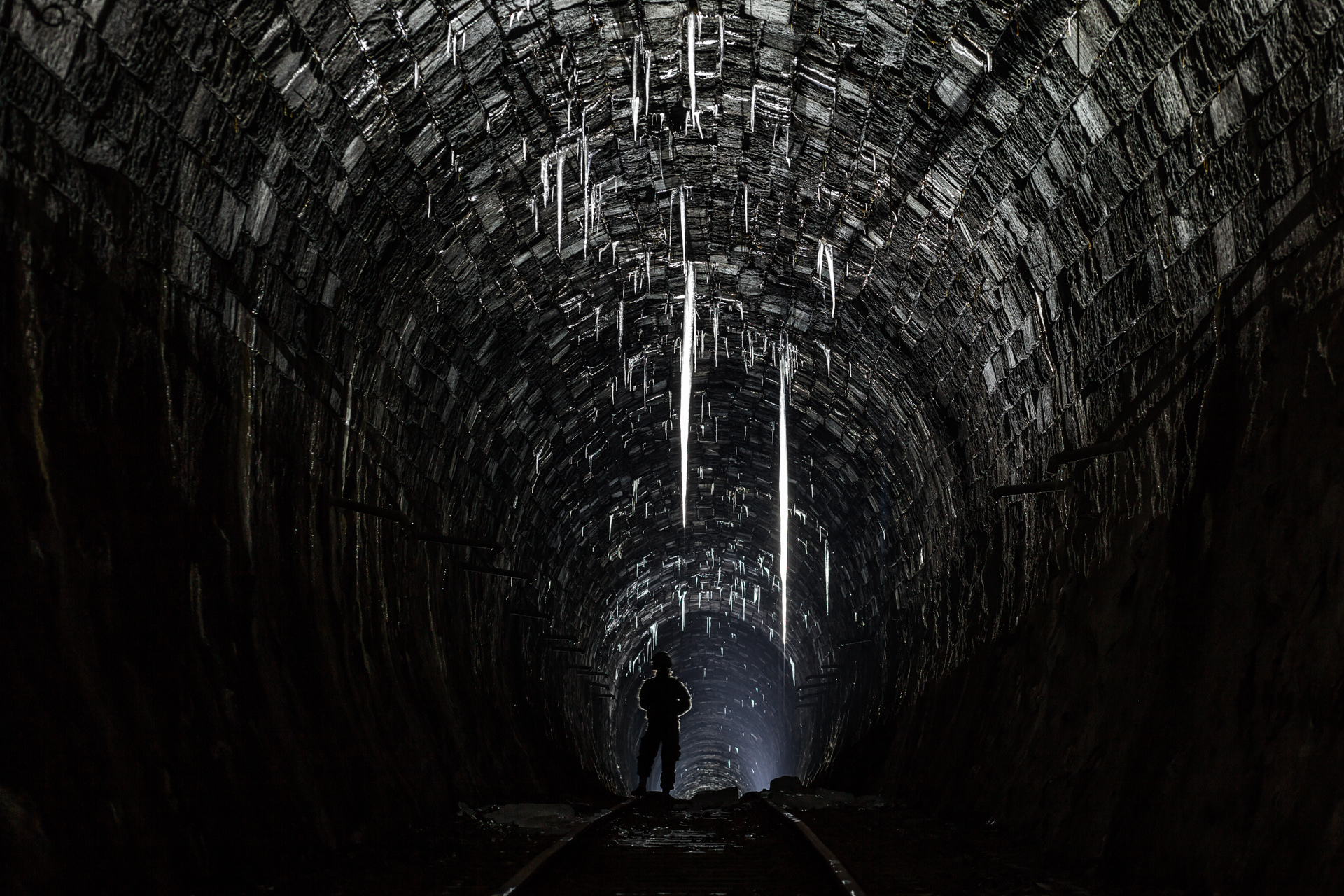 Urban Exploration - Turntable Station - Icicle Tunnel