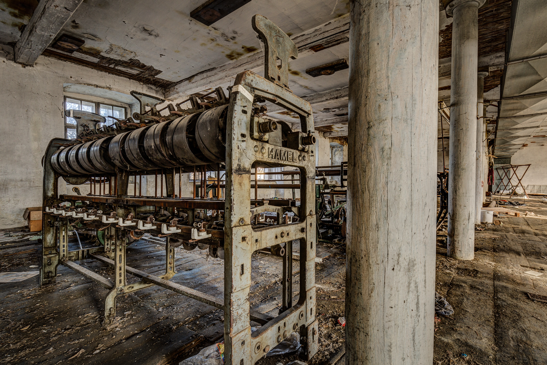 Urban Exploration - Grand Piano Weaving Mill - Weaving Widget