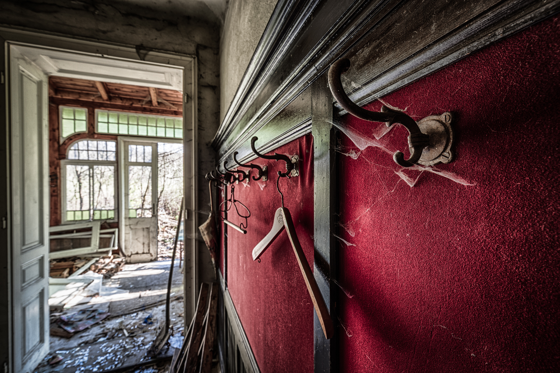 Urban Exploration - The Doctors House - Coat Rack