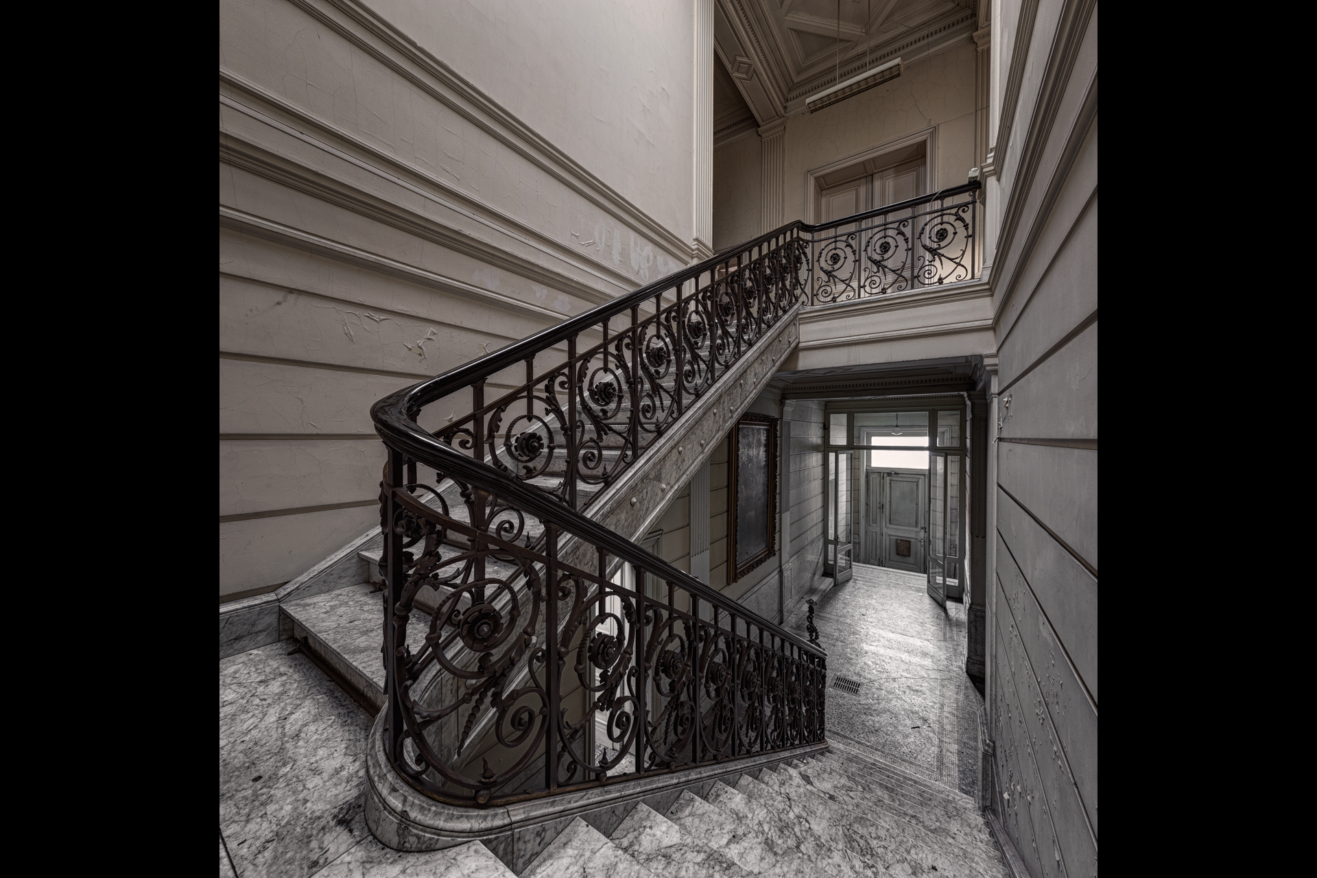 Urban Exploration - Pritzer Fac - Marble Staircase