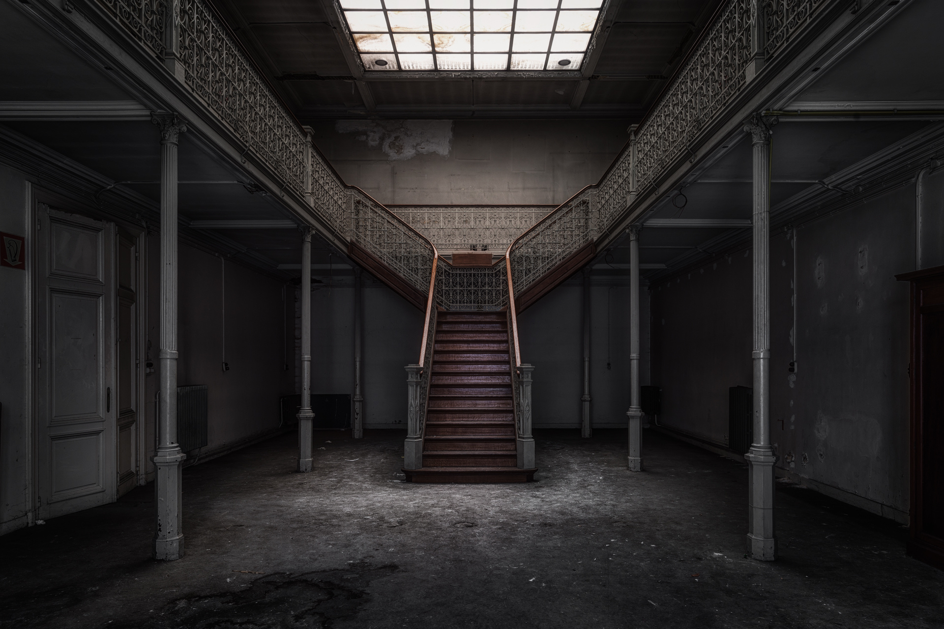 Urban Exploration - Pritzer Fac - Symmetry Stairs